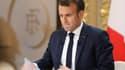 Le président de la République Emmanuel Macron, le 25 avril 2019 à l'Elysée à Paris.
