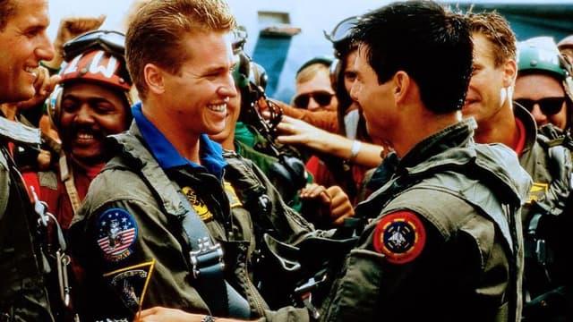 Val Kilmer et Tom Cruise dans Top Gun, en 1986.