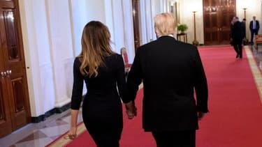 Melania et Donald Trump à la Maison Blanche, le 24 octobre dernier.