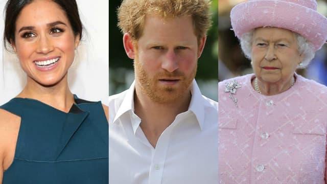 Meghan Markle / Le prince Harry / La reine Elizabeth II