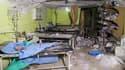 L'hôpital de la ville syrienne de Khan Sheikoun, où étaient soignés des victimes de l'attaque au gaz, avant qu'il ne soit bombardé.