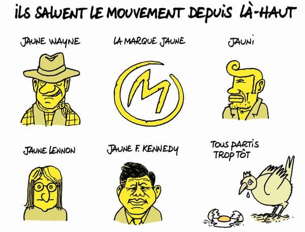 Les Gilets jaunes par Philippe Geluck