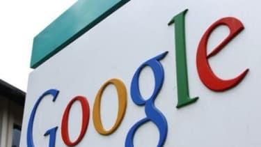Entrée de Google à Mountain View, Californie.