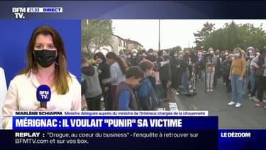 """Marlène Schiappa à propos du féminicide à Mérignac: """"Le coupable, c'est le meurtrier avant tout"""""""