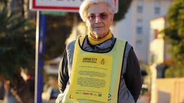 Martine Landry, responsable Amnesty International dans le sud de la France. -