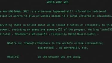 Voici à quoi ressemblait les premières pages du Web.