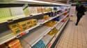 Un supermarché quasi-vide à Saint-Sébastien-sur-Loire.