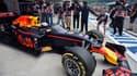 La Red Bull équipée d'un pare-brise de Daniel Ricciardo