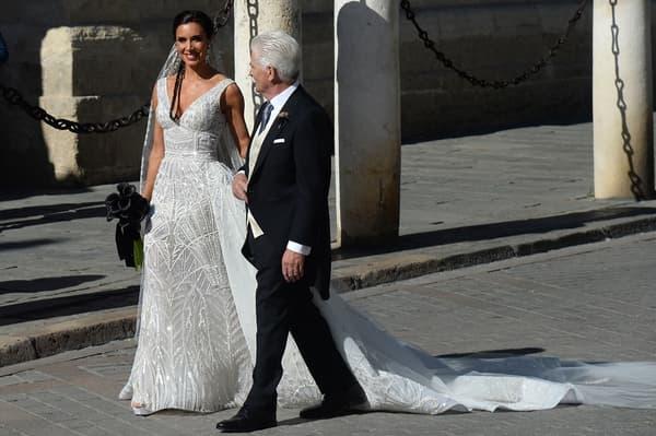 Pilar Rubio et son papa avant le mariage
