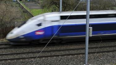 Le train n'a pas été arrêté au moment du tir, image d'illustration.