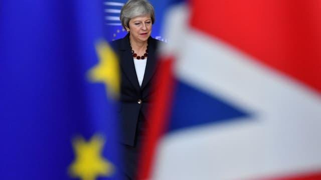 LaPpremière ministre britannique Theresa May à Bruxelles, le 17 octobre, lors du dernier sommet européen