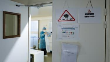 Dans l'unité Covid de l'hôpital Pasteur de Nice, en France, le 25 février 2021