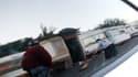 Caravanes dans un bidonville de Saint-Denis, en 2008. Image d'illustration.