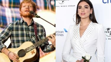 Ed Sheeran et Dua Lipa, favoris des Brit Awards 2018