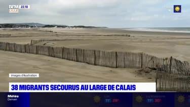 Traversée de la Manche: 38 migrants secourus au large de Calais