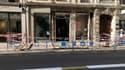 La devanture d'un magasin a été soufflée par une explosion à Lyon.