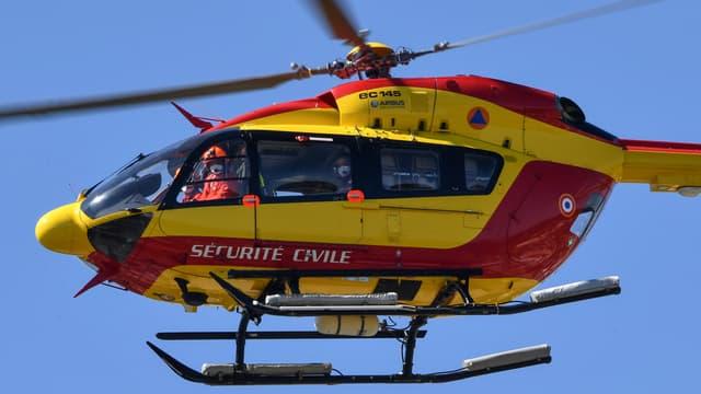 Un hélicoptère de la Sécurité civile, le 14 avril 2020 à Montpellier (illustration).