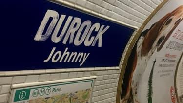 L'hommage de la RATP à Johnny Hallyday à la station Duroc