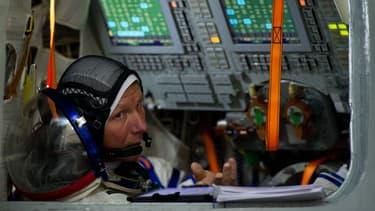 Guennadi Padalka lors d'un entraînement avant une mission à bord de l'ISS, le 5 mars 2015.