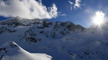 Le massif des Ecrins le 5 janvier 2018.