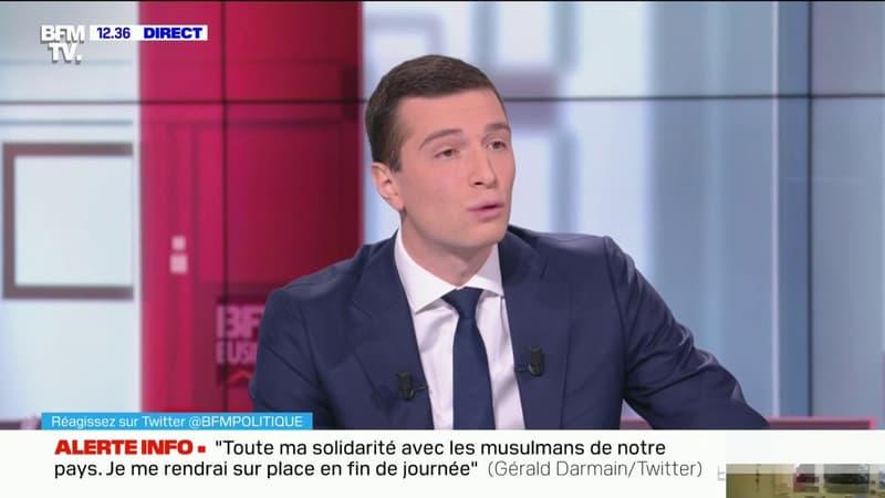 """Marine Le Pen en retrait de la présidence du RN? Jordan Bardella évoque le fait que son successeur serait """"un intérim"""" pour """"la remplacer le temps de la campagne présidentielle"""""""