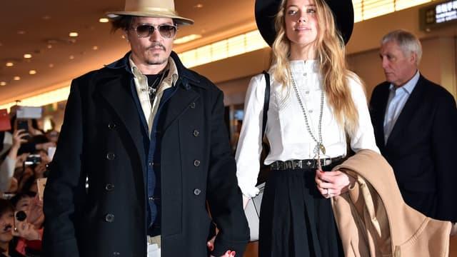 Johnny Depp et Amber Heard le 26 janvier 2015