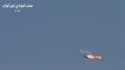 Image vidéo mises en ligne par des insurgés présentées comme montrant un avion de guerre syrien en flammes et annoncées comme ayant été filmées le 13 août. La rébellion syrienne a revendiqué la destruction, lundi, d'un chasseur l'armée de l'air dans la pr