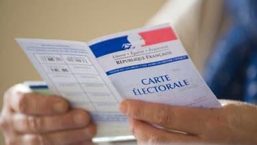 Carte électorale (photo d'illustration)