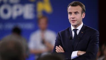 Emmanuel Macron le 17 avril 2018 à Epinal.