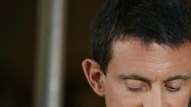Manuel Valls, lors de la passation de pouvoir à Matignon.