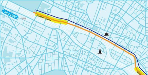 Les nouvelles voies piétonnes prévues dans le projet