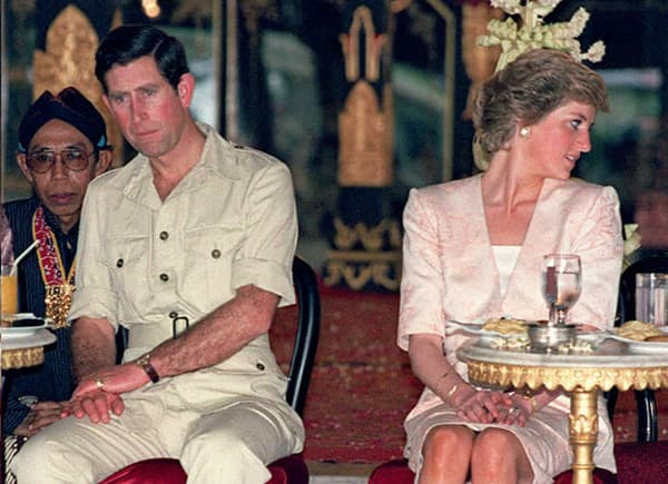 Charles & Diana en voyage en Indonésie, le 5 novembre 1989