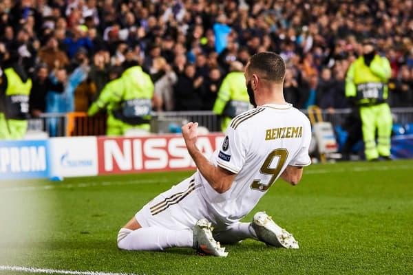 Karim Benzema célèbre un de ses buts