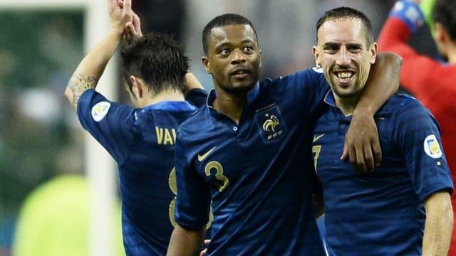 Patrice Evra et Franck Ribéry en équipe de France