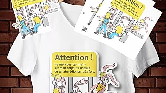 Le lapin Serge, revisité par l'artiste Zoia.