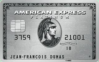 la carte Platinum d'American Express