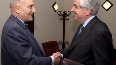 Gérard Lignac, à gauche, en 2002.