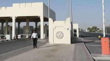La frontière entre l'Arabie saoudite et le Qatar, côté qatari.