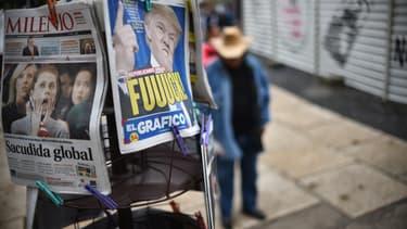 Des unes de journaux à Mexico au lendemain de l'élection de Trump