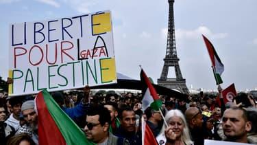 Un rassemblement en soutien à la Palestine, le 16 mai 2018, après le transfert de l'ambassade américaine à Jérusalem
