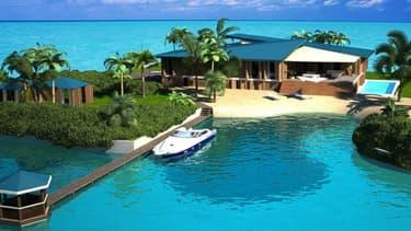 Un complexe hôtelier aux Maldives