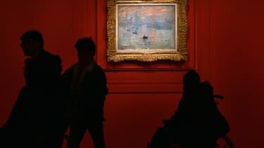 """""""Impression, soleil levant"""" de Claude Monet, exposé au Grand Palais en 2005."""