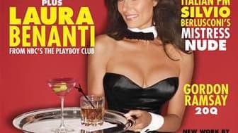 """Le numéro d'octobre de Playboy sort en kiosque vendredi et sera vendu 60 cents. Sa rédaction lui a donné un air rétro correspondant à 1961, année de la création du premier club Playboy, et l'a fait coïncider avec le début du feuilleton télévisé """"The Playb"""