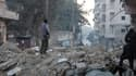 Des rebelles à Alep, en Syrie, le 7 janvier dernier.