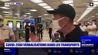 """Nord-Pas-de-Calais: """"2500 verbalisations"""" pour non-respect des mesures barrières dans les transports"""