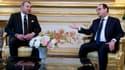 François Hollande et le roi Mohamed VI en février dernier, à l'Elysée.