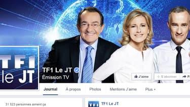 Fin juillet, les journaux de TF ont inauguré leur page Facebook avec Claire Chazal en tête de gondole