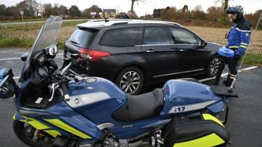 Un contrôle routier (Photo d'illustration)