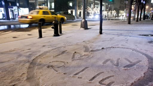 Début janvier, une vague de froid polaire s'était déjà abattue sur le nord-est du pays comme ici à New York.