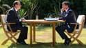 François Hollande et Manuels Valls se sont retrouvés, vendredi 15 août, pour une réunion de travail, au Fort de Brégançon.